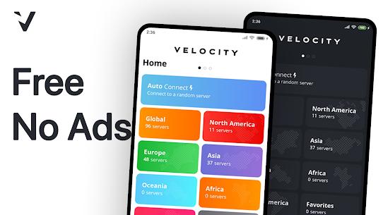Velocity VPN (No Ads) – Unlimited for Free! (Pro/ Mod APK) v1.1.3 1