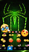 Neon Electric Spider Keyboard Theme