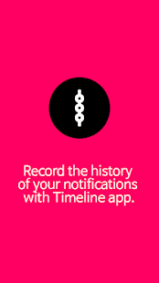 Notification history - Timeline
