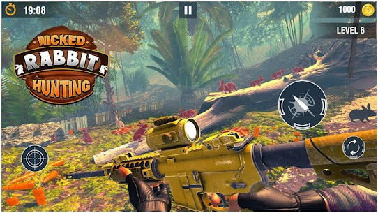 Wicked Rabbit Hunting Sniper Free Shooting Games Hack Cheats (iOS & Android) 3