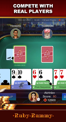 Ruby Rummy-Indian Online Free Card Game 1.0.5 Screenshots 4