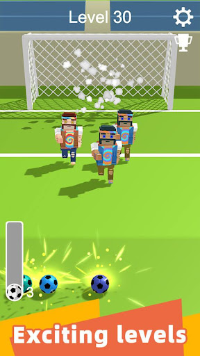 Straight Strike - 3D soccer shot game screenshots 4