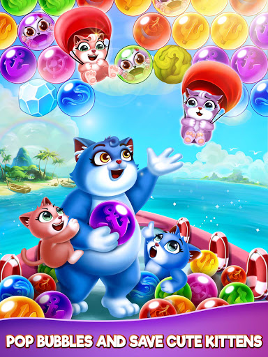 Cat Pop Island: Bubble Shooter Adventure 8.5 screenshots 11