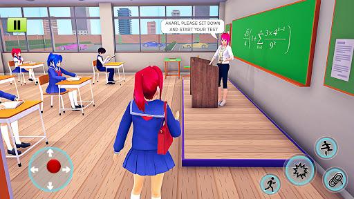 High School Girl Simulator 3D: Anime School Games  screenshots 2
