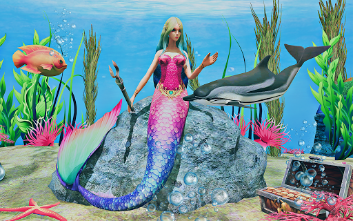 Mermaid Simulator 3D - Sea Animal Attack Games  screenshots 12