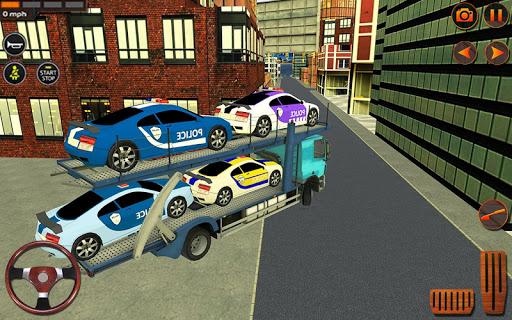 Police Car Transporter Simulator: Truck Driving 3d apkpoly screenshots 3