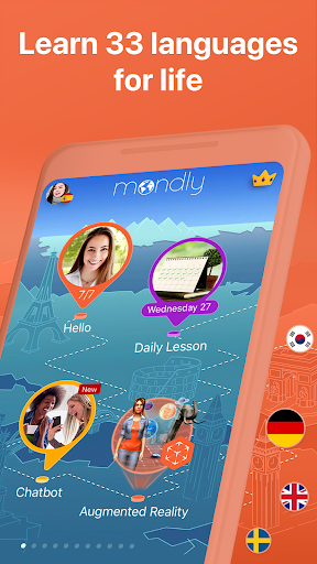 Learn 33 Languages Free - Mondly 7.9.0 Screenshots 2