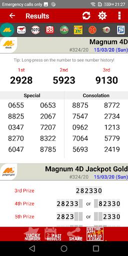 Live 4D Results ! (MY & SG) 89 Screenshots 2