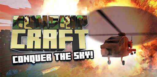 Screenshot of Gunship Craft: Crafting & Helicopter Flying Games