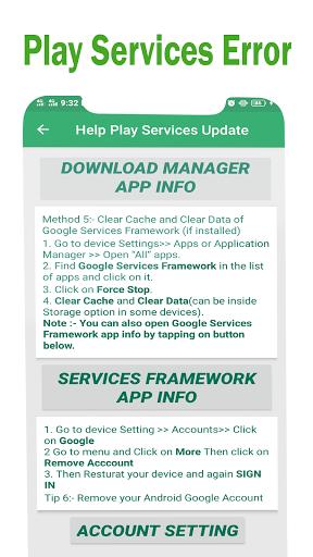 Play Services Errors Help 2021-Fix Play Store Info 1.0.2 screenshots 8