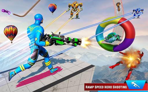 Speed Hero Robot Ramp Bike Transform Robot Games 1.7 screenshots 5