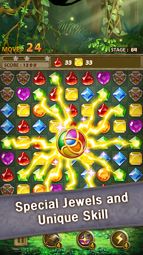 Jewels Jungle : Match 3 Puzzle apktram screenshots 4