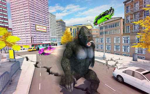 Crazy Gorilla GT Rampage-Superhero Mega Ramp Stunt apkdebit screenshots 19