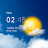 Transparent clock and weather - forecast and radar