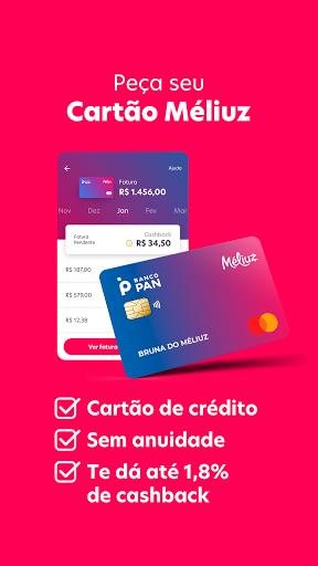 Mu00e9liuz: Cashback, Cartu00e3o de Cru00e9dito e Cupons android2mod screenshots 3