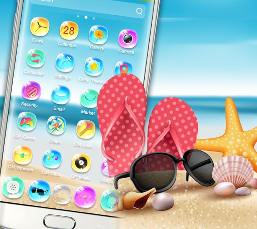 summer holidays colorful bling theme screenshot 3