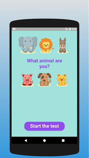 What animal are you? Test 1.1 Screenshots 1