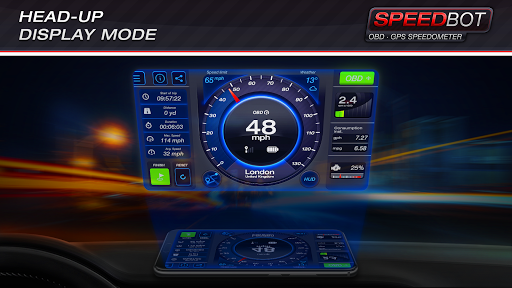 Speedbot. Free GPS/OBD2 Speedometer 2.7 Screenshots 3