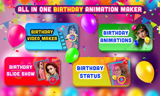 Birthday Video Maker with Song and Name 2021 android2mod screenshots 1