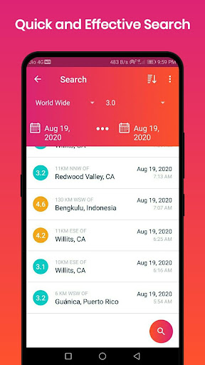 Earthquake Alerts 1.0.4 Screenshots 1