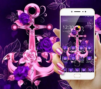 Purple Glitter Anchor Theme For Pc   How To Install (Windows 7, 8, 10 And Mac) 1