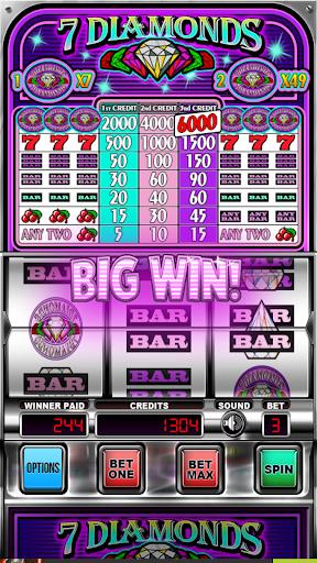Seven Diamonds Deluxe : Vegas Slot Machines Games screenshots 1