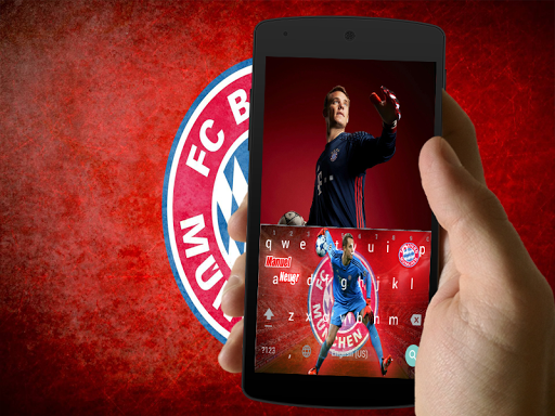 manuel neuer keyboard theme screenshot 2