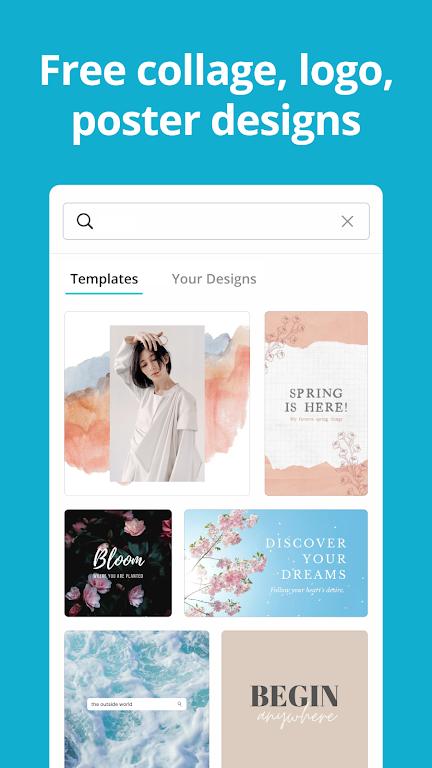 Canva: Graphic Design, Video Collage, Logo Maker poster 1