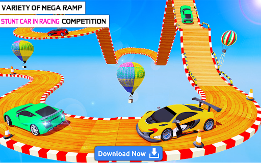 Mega Stunt Car Race Game - Free Games 2020 3.5 screenshots 21