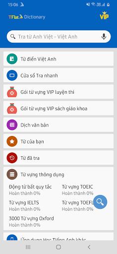 Dich tieng Anh - Tu dien Anh Viet TFlat 7.9.1 Screenshots 8