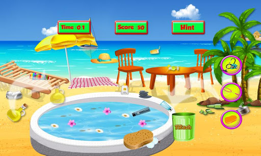 Spa Salon Cleanup Simulator: Pool & Bath Cleaning screenshots 1