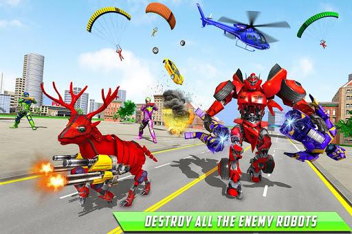 Deer Robot Car Game u2013 Robot Transforming Games 1.0.7 screenshots 4