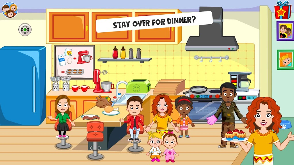 My Town : Best Friends' House games for kids poster 2