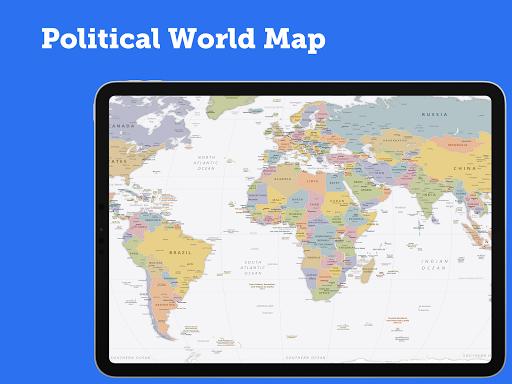 World Map 2021 FREE android2mod screenshots 3