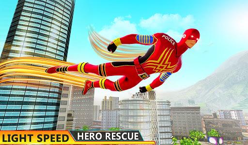 Flying Hero Robot Transform Car: Robot Games Apkfinish screenshots 11