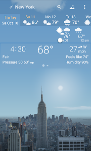 Awesome weather YoWindow + live weather wallpaper 1