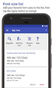 Big Font (change font size) PRO MOD APK 5