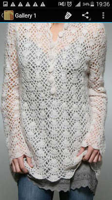 かぎ針編みのセーターのおすすめ画像1