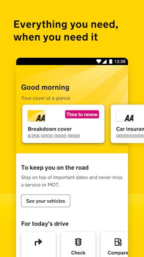 The AA membership & breakdown reporting app apktram screenshots 1