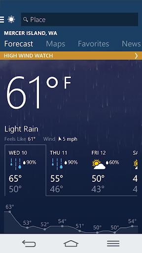 MSN Weather - Forecast & Maps Apk 1