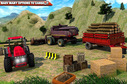 Drive Tractor trolley Offroad Cargo- Free 3D Games apkslow screenshots 10