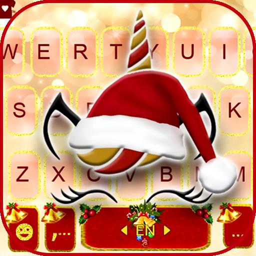 Christmas Unicorn Keyboard Theme
