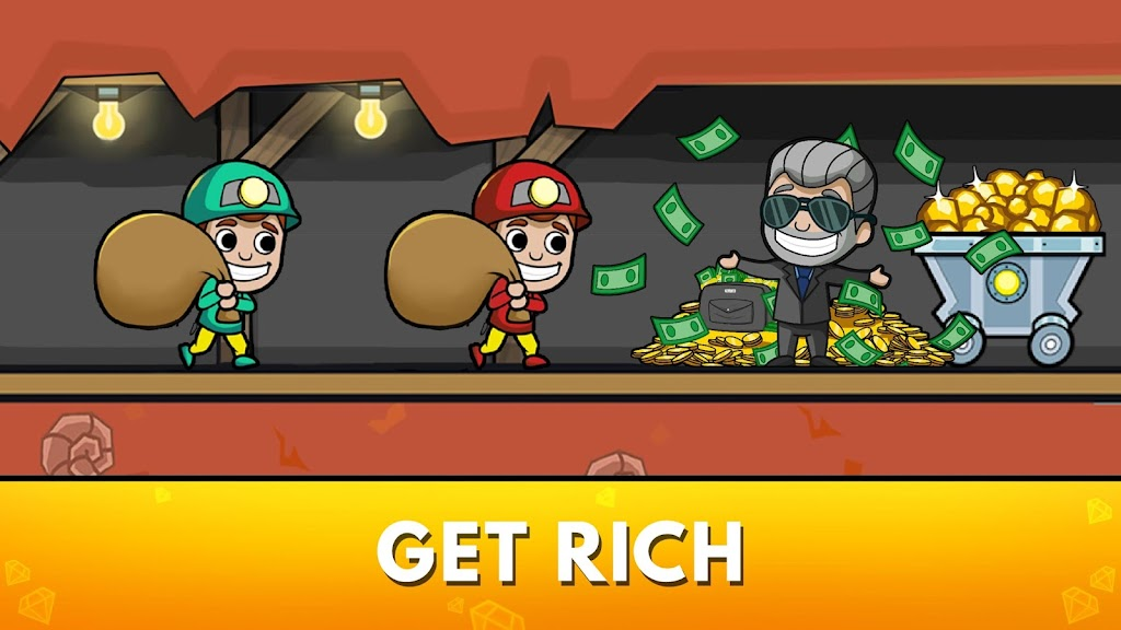 Idle Miner Tycoon: Gold & Cash Game MOD poster 9