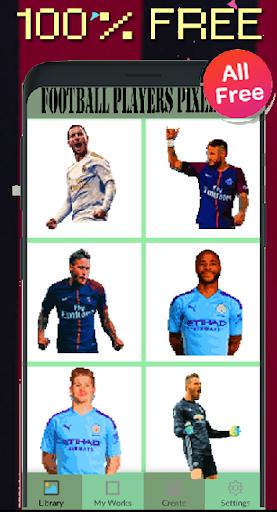 Code Triche Football Players Color By Number-Pixel Art 2021 (Astuce) APK MOD screenshots 4