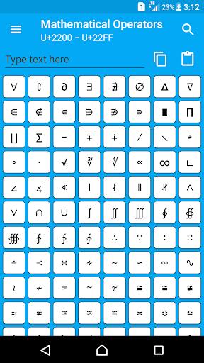 character pad - unicode screenshot 2