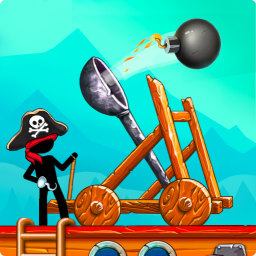 The Catapult: Castle Clash with Stickman Pirates