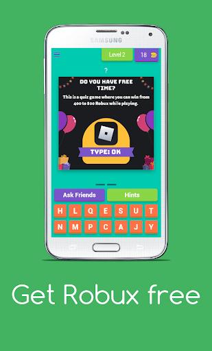 Get Robux Free - Quiz 2021  screenshots 3