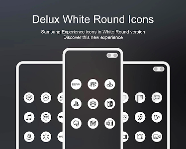 Delux White Round - Icon Pack 1.0 (Patched)
