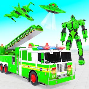 Fire Truck Robot Car Game