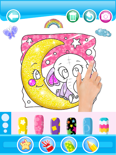 Glitter Number and letters coloring Book for kids 3.8 Screenshots 11